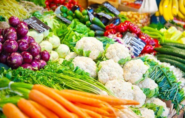Heap of vegetables fresh. Agricultural market.